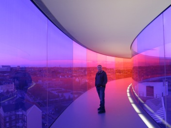 Rainbow panorama atop Aarhus Art Museum