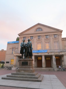 Goethe and Schiller, Weimar, Germany