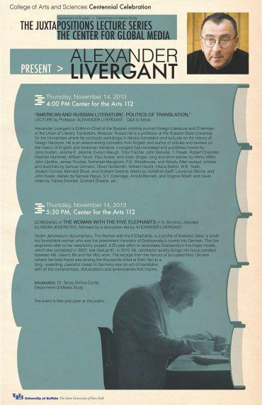 Juxtapositions Lecture by Alexander Livergant