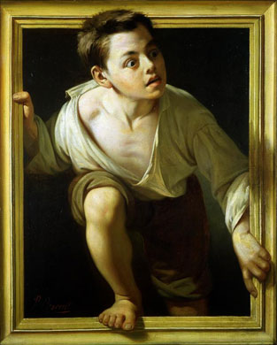 Escaping Criticism, Pere Borrell de Caso (1874)