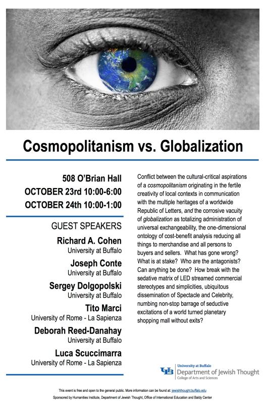 Cosmopolitanism Vs Globalization Joseph M Conte