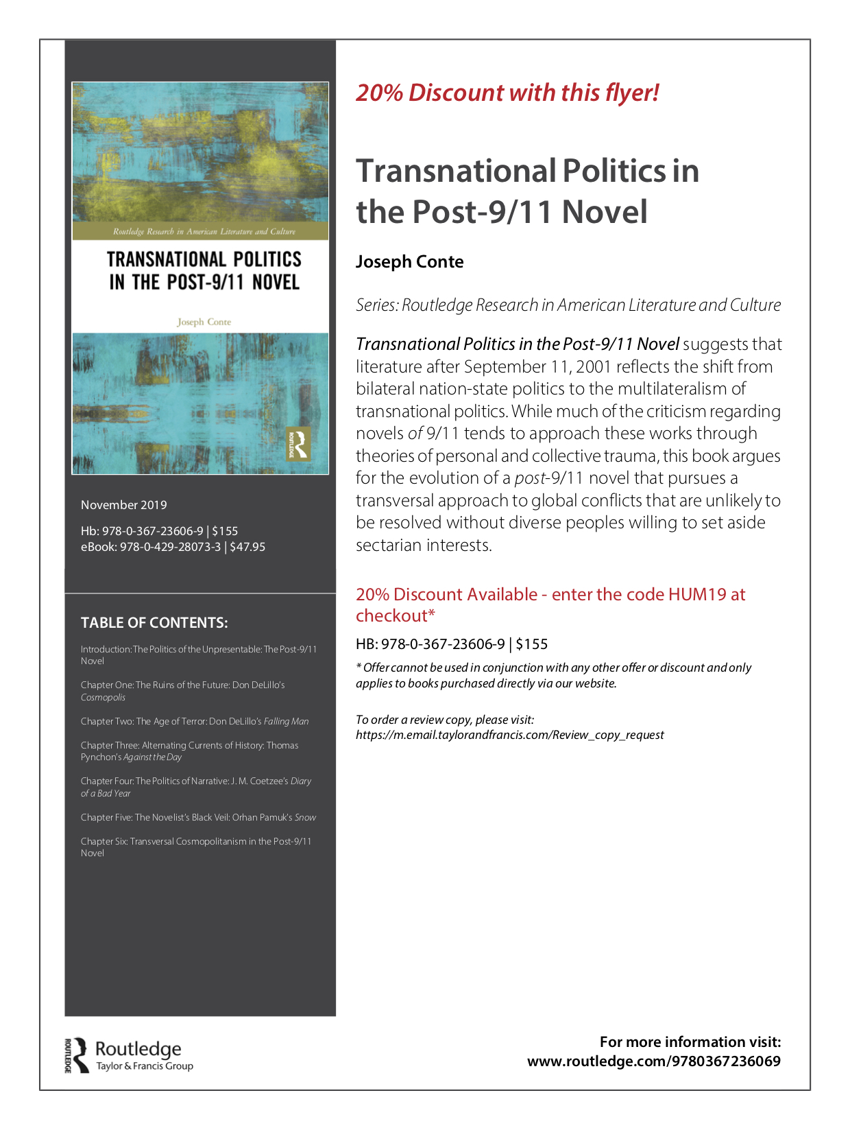 Transnational Politics in the Post-911 Novel